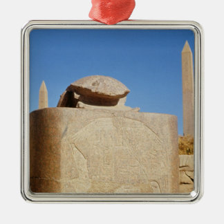 Sacred scarab statue in the Temple of Amun Christmas Ornament
