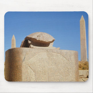 Sacred scarab statue in the Temple of Amun Mouse Mat