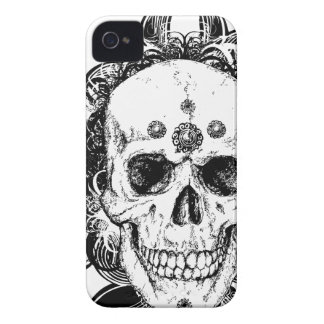 SAcred Skull Metal Goth iPhone 4 Case