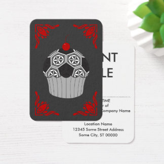 sacred soccer cupcake business card