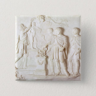 Sacrifice to Hercules, c.1766 (marble) 15 Cm Square Badge