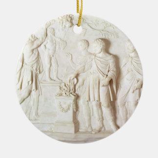 Sacrifice to Hercules, c.1766 (marble) Christmas Ornament