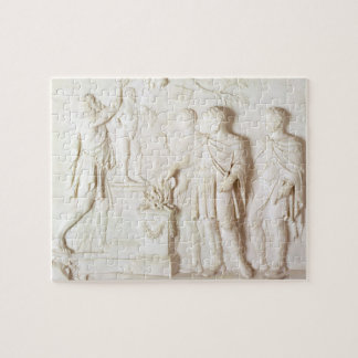 Sacrifice to Hercules, c.1766 (marble) Jigsaw Puzzle