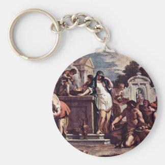 Sacrifice To The Goddess Vesta By Ricci Sebastiano Key Chain