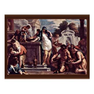 Sacrifice To The Goddess Vesta By Ricci Sebastiano Post Card