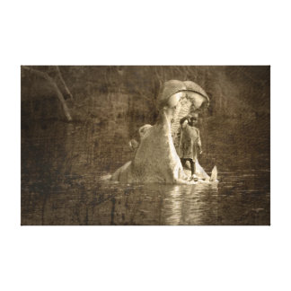 sacrifice to the hippo god gallery wrap canvas