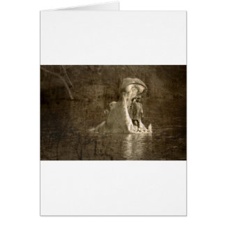 sacrifice to the hippo god greeting cards