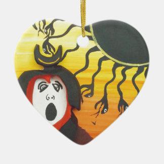 Sacrifice to the Solar Snake God Christmas Ornament