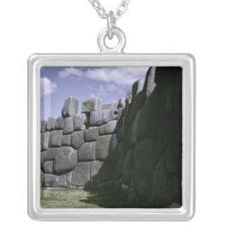 Sacsahuman Incan Fortress Silver Plated Necklace