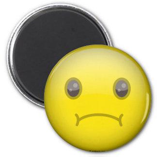 Sad 6 Cm Round Magnet