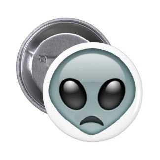 Sad Alien Emoji 6 Cm Round Badge
