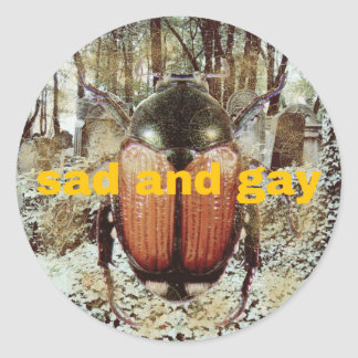 sad and gay: the sticker