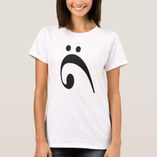 Sad Bass Clef Black T-Shirt