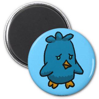 Sad Bird of Happiness 6 Cm Round Magnet
