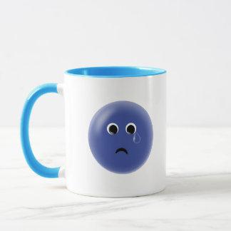 Sad Blue Smiley Mug