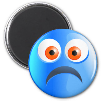 Sad Blue Smilie Magnet