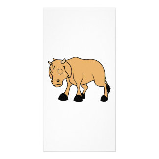Sad Brown Calf World Vegetarian Day Animal Rights Personalized Photo Card