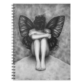 Sad Butterfly Girl Notebook