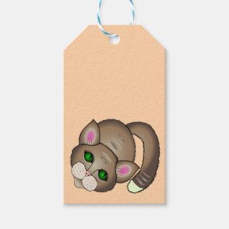 Sad cat gift tags