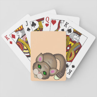Sad cat poker deck