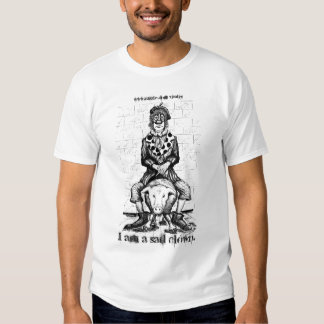 Sad clown cute t-shirt design