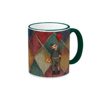 Sad Clown Day Ringer Coffee Mug