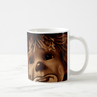 Sad Clown Doll Face Coffee Mug