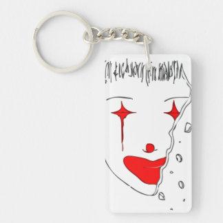 Sad Clown Key Ring