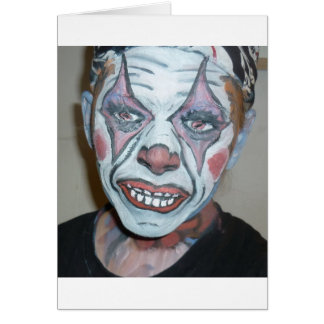 Sad Clowns Scary Clown Face Painting Greeting Card
