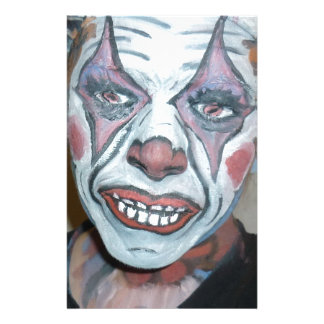 Sad Clowns Scary Clown Face Painting Personalised Stationery