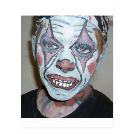 Sad Clowns Scary Clown Face Painting Post Cards