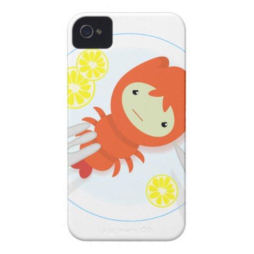 sad crayfish iPhone 4 Case-Mate case