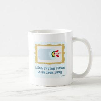 Sad Crying Clown Basic White Mug