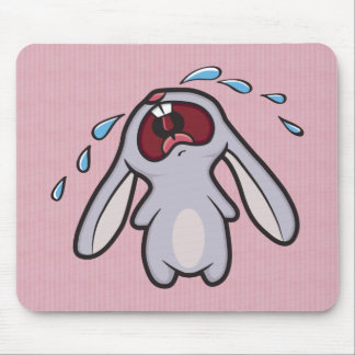 Sad Crying Rabbit | Bawling Bunny Mouse Mat