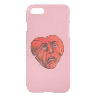Sad Crying Red Heart Face iPhone 7 Case