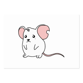 Sad Crying Weeping White Mouse Card Stamp Labels Business Card Template