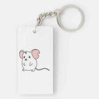 Sad Crying Weeping White Mouse Mug Pillow Button Rectangular Acrylic Key Chain