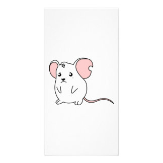 Sad Crying Weeping White Mouse Pillow Button Pin Photo Card Template