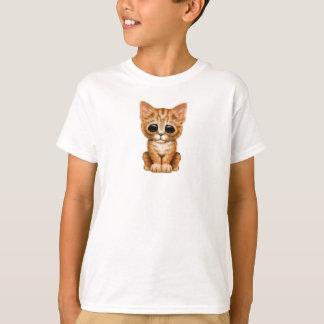 Sad Cute Orange Tabby Kitten Cat T-Shirt
