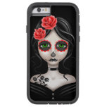 Sad Day of the Dead Girl on Black