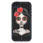 Sad Day of the Dead Girl on Black iPhone 5 Cover