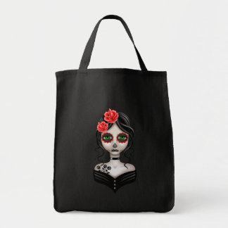 Sad Day of the Dead Girl Tote Bag