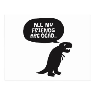 Sad Dinosaur Postcard