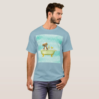 Sad Dog Time For Shower Watercolor Rare T-Shirt