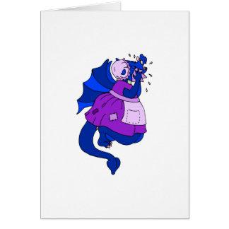 Sad Dragon Greeting Card