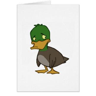Sad Duck Card (Blank Inside)