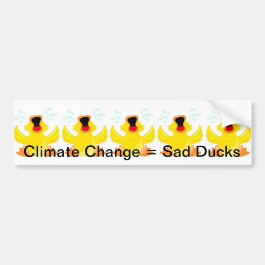 Sad Ducks Bumper sticker