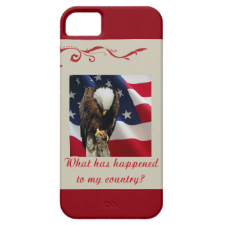 Sad Eagle on American Flag my country Case For The iPhone 5