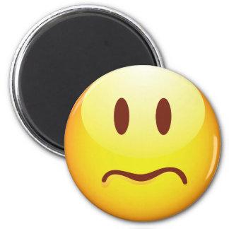 Sad Emoticon 6 Cm Round Magnet