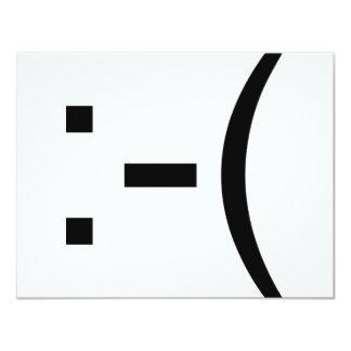 Sad Emoticon! geek products! 11 Cm X 14 Cm Invitation Card